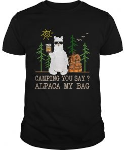 Camping you say alpaca my bag with beer  Unisex