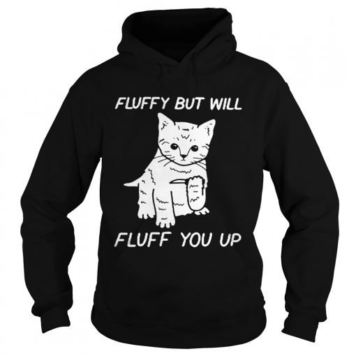 Cat fluffy but will flufe you up  Hoodie