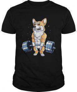 Corgi dog weight lifting  Unisex