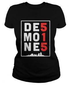Des Moines 515 Tee Shirt Classic Ladies