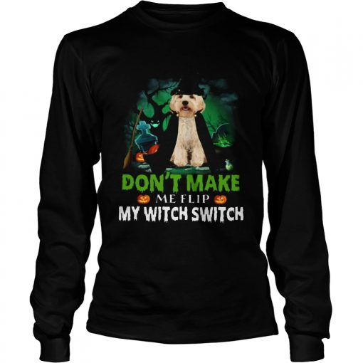 Dont Make Me Flip My Witch Smitch Cockapoo Dogs Lovers JackOLanterns Halloween Shirts LongSleeve