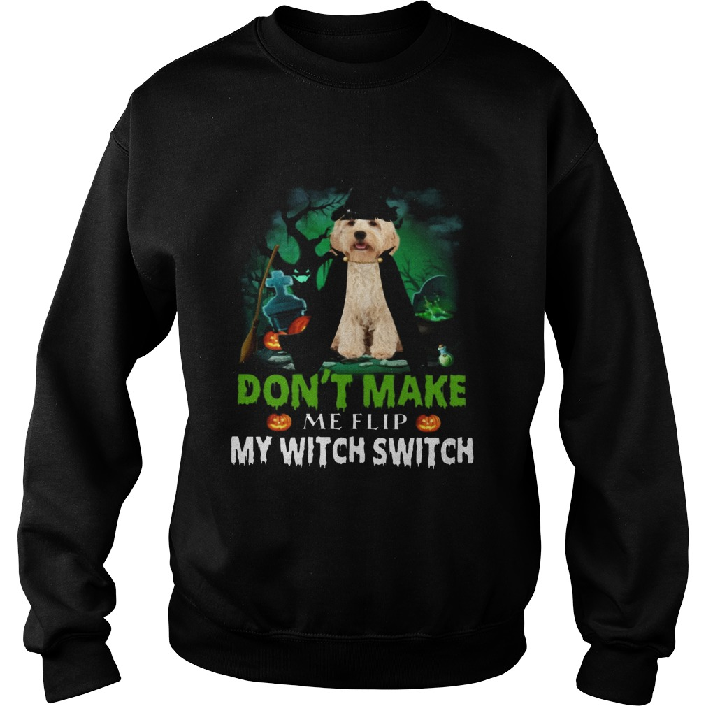 Dont Make Me Flip My Witch Smitch Cockapoo Dogs Lovers JackOLanterns Halloween Shirts Sweatshirt