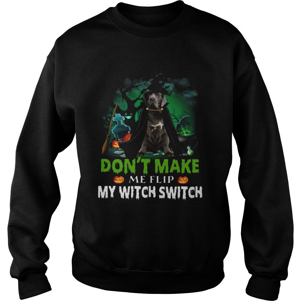 Dont Make Me Flip My Witch Smitch Neapolitan Mastiff Witch Lovers JackOLanterns Halloween Shirts Sweatshirt