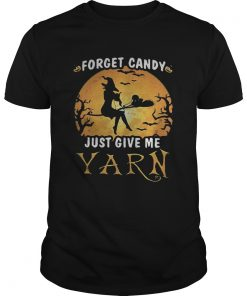 Forget candy just give me yarn Halloween moon  Unisex