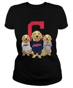 Golden Retriever Cleveland Indians  Classic Ladies