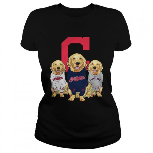 Golden Retriever Cleveland Indians  Classic Ladies