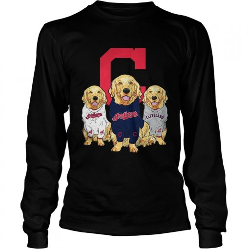 Golden Retriever Cleveland Indians  LongSleeve