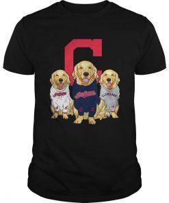 Golden Retriever Cleveland Indians  Unisex