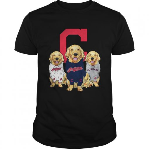 Golden Retriever Cleveland Indians  Unisex