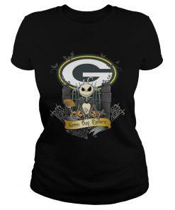 Green Bay Packers Jack Skellington this is Halloween  Classic Ladies