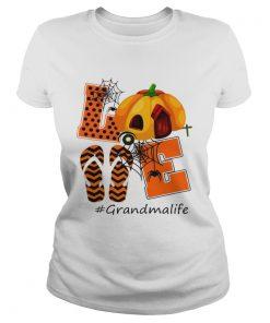 Halloween Womens Mom Love Grandma Life TShirt Classic Ladies