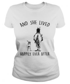 Horse And Dog and she lived happily ever after  by T Classic Ladies