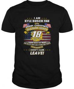 I am Kyle Busch fan I say Merry Christmas God bless America  Unisex