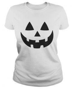 Jack O Lantern Halloween Pumpkin Face Shirt Classic Ladies