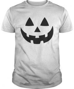 Jack O Lantern Halloween Pumpkin Face Shirt Unisex