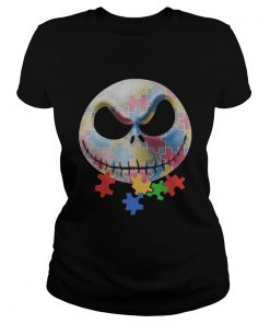 Jack Skellington Autism Awareness Classic Ladies