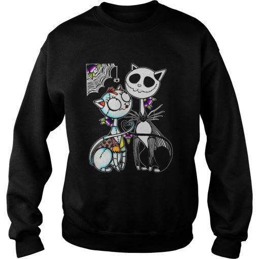 Jack Skellington and Sally cat  Sweatshirt