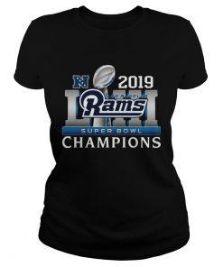 Los Angeles Rams 2019 Super Bowl Champions  Classic Ladies