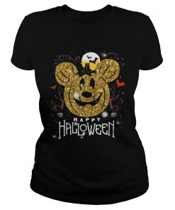 Mickey head happy halloween  Classic Ladies