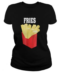 Nice French Fries Couples Halloween Costume BurgerFries  Classic Ladies