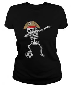 Official Halloween Soccer Pirate Dabbing Skeleton Soccer  Classic Ladies