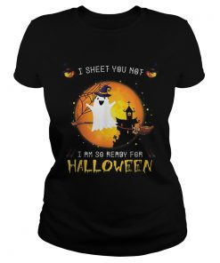 Official I Sheet You Not Im So Ready For Halloween Boo Witch Costume  Classic Ladies