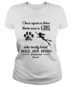 Once upon a time there was a girl who really loved dogs and diving Classic Ladies