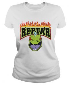 Reptar Fire Text With Reptars Head  Classic Ladies