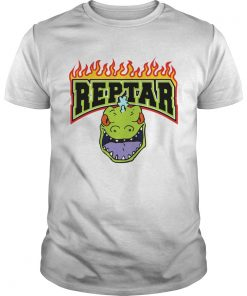 Reptar Fire Text With Reptars Head  Unisex
