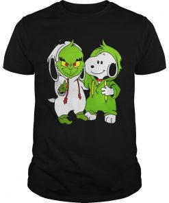 Snoopy And Grinch Fushion Peanuts How The Grinch Stole Christmas Fans Shirts Unisex