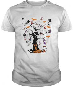 Snoopy Woodstock owl bats ghost Boo on the tree Halloween  Unisex