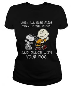 Snoopy and Charlie Brown When all else fails turn up the music and dance with your dog  Classic Ladies