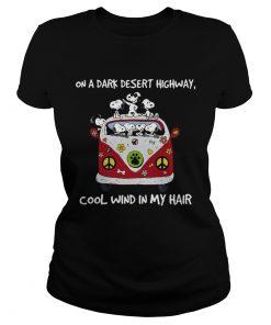 Snoopy on a dark desert highway cool wind in my hair  Classic Ladies