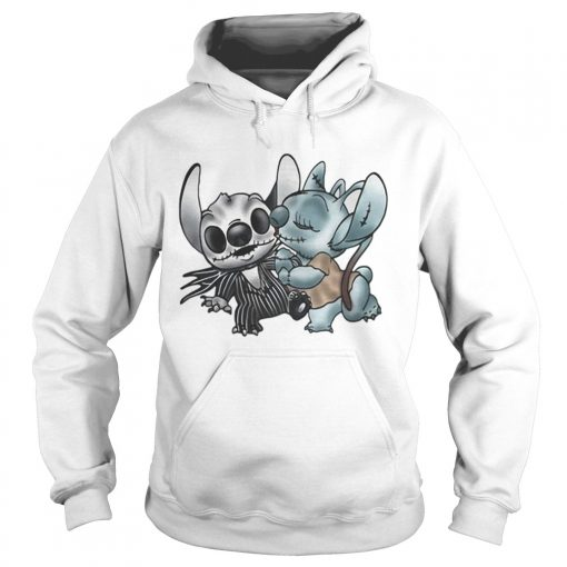 Stitch and Angel Nightmare Before Xmas  Hoodie