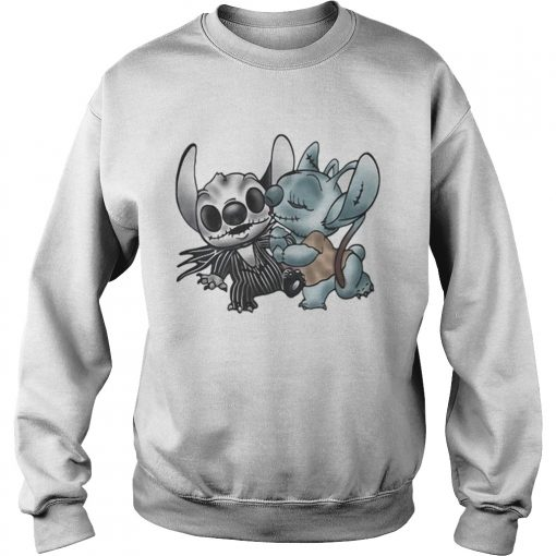 Stitch and Angel Nightmare Before Xmas  Sweatshirt