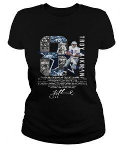 Troy Aikman 8 Quarterback Dallas Cowboys signature  Classic Ladies