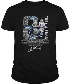 Troy Aikman 8 Quarterback Dallas Cowboys signature  Unisex