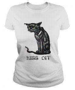 Black cat hiss off funny  Classic Ladies