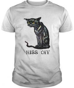 Black cat hiss off funny  Unisex