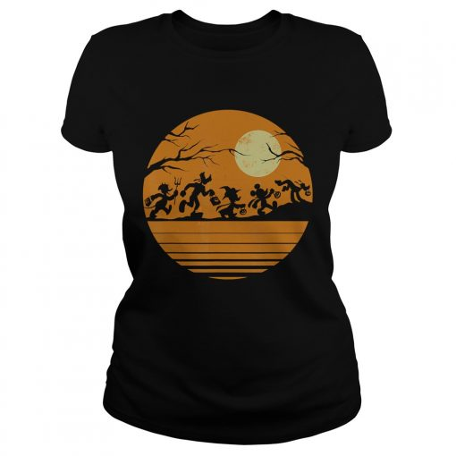 Disney Mickey Mouse and Friends Halloween TShirt Classic Ladies