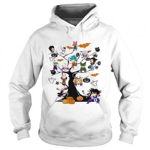 Dragon Ball Character on the tree Halloween  Hoodie