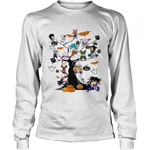 Dragon Ball Character on the tree Halloween  LongSleeve