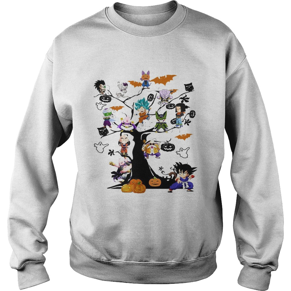 Dragon Ball Character on the tree Halloween Sweatshirt
