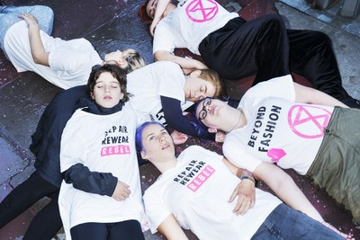 """Extinction Rebellion Is Protesting London Fashion Week With """"Die Ins"""" and a Funeral"""