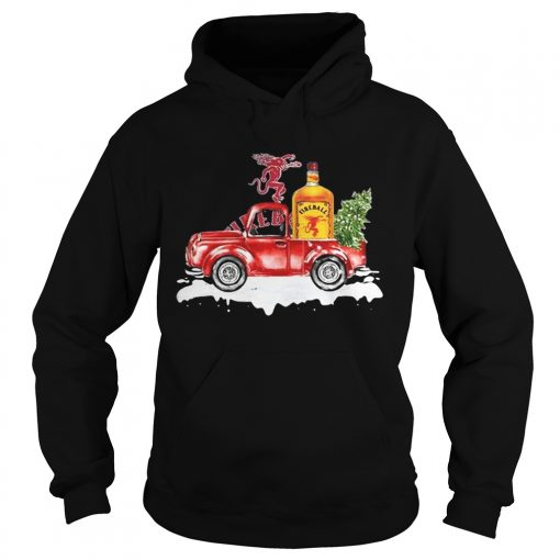 Fireball Cinnamon Whisky christmas truck  Hoodie