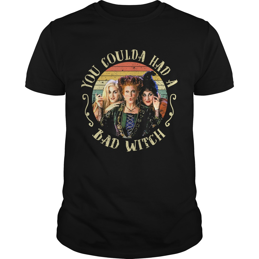 Halloween You Coulda Had A Bad Witch Movie TShirt Unisex