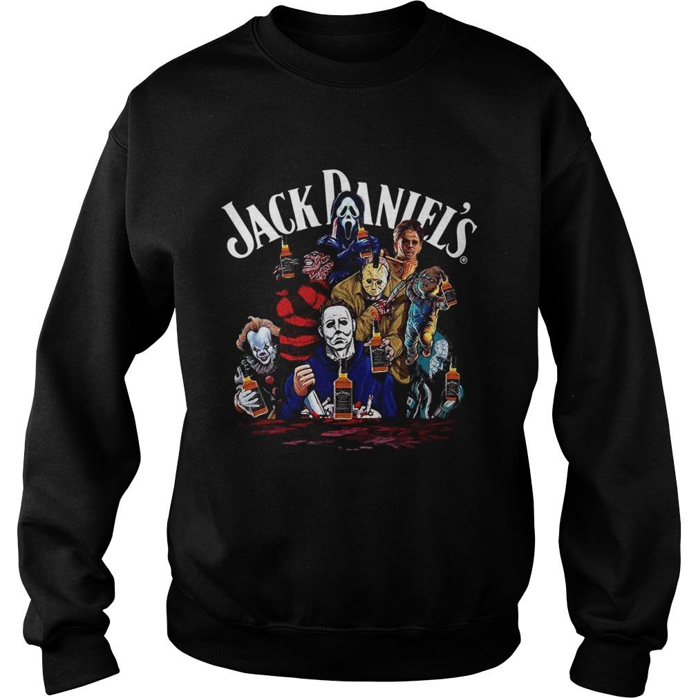 Horror character Jack Daniels whiskey Sweatshirt
