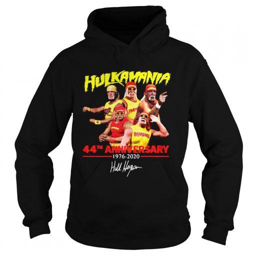 Hulkamania 44th Anniversary 19762020 Signature  Hoodie