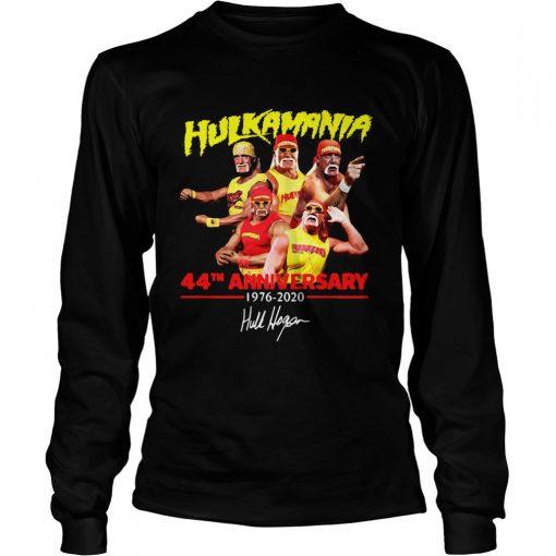 Hulkamania 44th Anniversary 19762020 Signature  LongSleeve