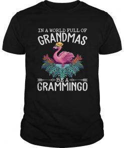 In A World Full Of Grandmas Be A Grammingo Funny Flamingo Shirt Unisex